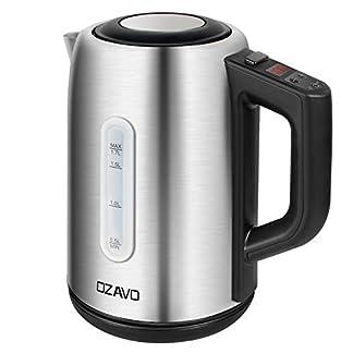 OZAVO-Wasserkocher-mit-Temperatureinstellung-50-70-80-90-100-C-Edelstahl-Teekessel-mit-Trockengehschutz-Warmhaltefunktion-mit-LCD-Anzeige-2200W-17L-MEHRWEG