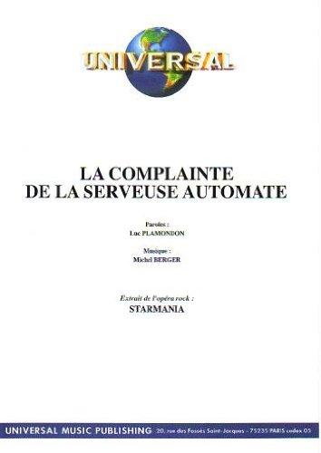SERVEUSE AUTOMATE LA COMPLAINTE LA DE TÉLÉCHARGER