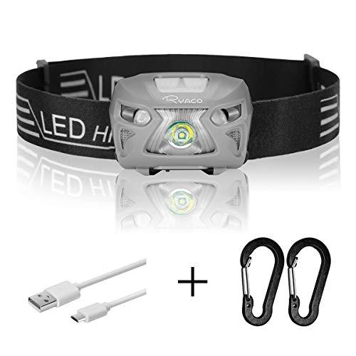 Ryaco Linterna Frontal LED USB Recargable 1200mAh