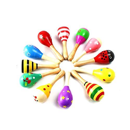 as von Muroad, Percussion, Rassel, Shaker, Sand, Hammer, Musikinstrument und Lernspielzeug für Kinder, zufälliges Muster und Farbe. ()