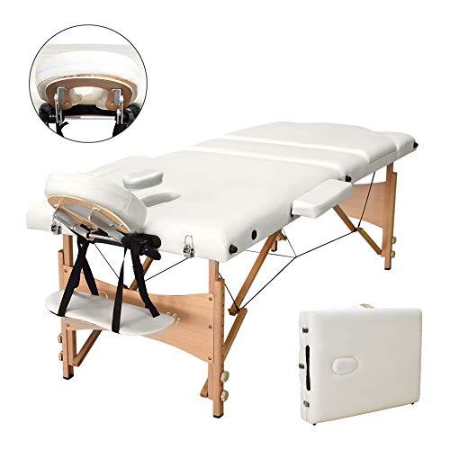 vesgantti 3sección plegable Camilla de masaje, ignífugo masaje sofá cama con reposacabezas de metal--- 485Lbs
