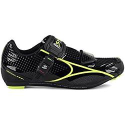 Spiuk Brios Road - Zapatillas unisex, color negro / amarillo, talla 47