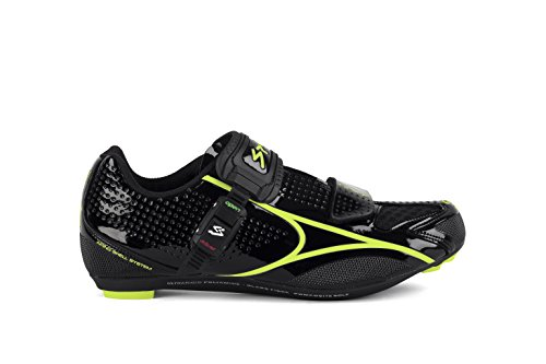 Spiuk Brios Road - Zapatillas unisex, color negro / amarillo, talla 43