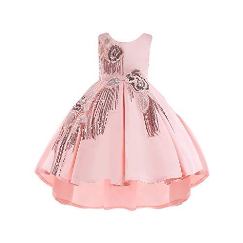 f0ae647c3cf8 Vestiti Bambina Cerimonia Eleganti Invernali Senza Maniche Vestito Dietro E  Corta Davanti Abito da Sposa Principessa
