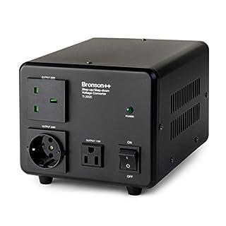Bronson++ TI 2000 110 Volt USA Spannungswandler/Ringkern-Transformator - In: 100-120V oder 220-240V / Out: 110V und 220V - Bronson 2000W