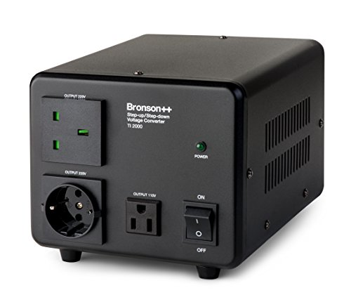 Bronson++ TI 2000 110 Volt USA Spannungswandler Ringkern-Transformator - In: 100-120V oder 220-240V / Out: 110V und 220V - Bronson 2000W (Power Transformer)