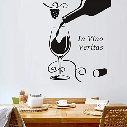 akeansa Wandtattoo wandaufkleber kinderzimmer Aufkleber Kinder Tieren Schlafzimmer In Weinglas Flasche Floral Grapevine PVC Zitate s wasserdichte Kunst