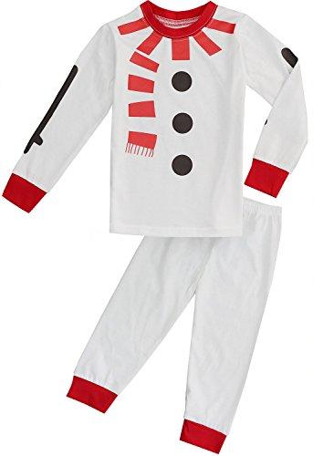 FANCYINN Baby Mädchen Jungen Weihnachten 2 stücke Pyjamas Set Langarm T-shirt mit Lange Hosen Kleidung 12-18 Months (Stück 18% Spandex-zwei)