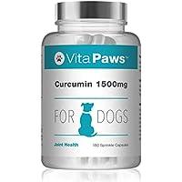 VitaPaws™ Cúrcumina 1500mg | 180 cápsulas para espolvorear | Para favorecer la salud de las articulaciones de nuestra mascota | Indicado para perros