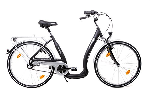 "26\"" Zoll Damen City Bike Biria Fahrrad Tiefeinstieg Shimano Nexus 3 Gang schwarz"