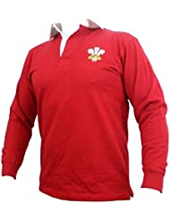Gales Galés Junior tradicional de Rugby Camisa