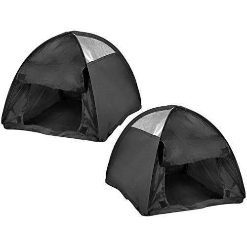 com-four® 2X Pop-Up Zelt für Haustiere, Zelt für Katzen und kleine Hunde, ca. 36 x 36 x 32 cm (02 Stück) (Käfig Pop-up-katze)