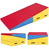 "Best Choice Products 71"" X 30"" X 14"" Folding Gymnastics Incline Mat Cheese Wedge Skill Shape Tumbling Mat"