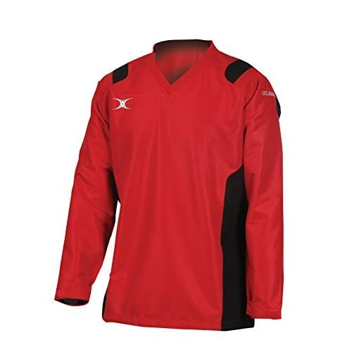 41Zfo%2Bnw6jL. SS500  - Gilbert Rugby Adult Revolution Warmup Top - Red/ Black - XS