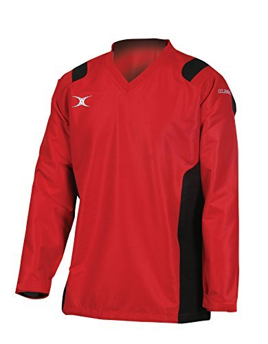 41Zfo%2Bnw6jL - Gilbert Rugby Adult Revolution Warmup Top - Red/ Black - XS