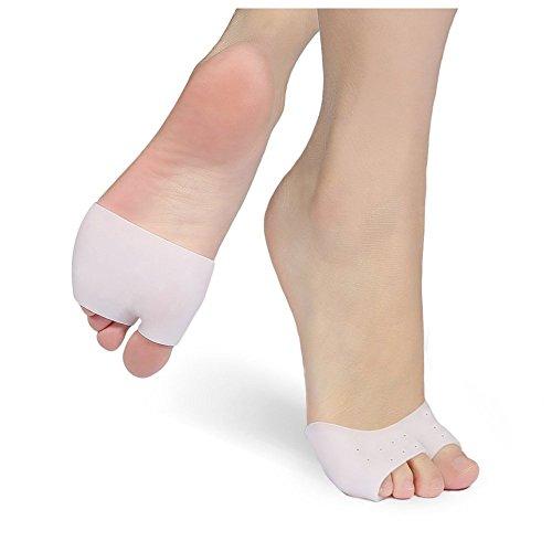 2paia solette in gel Metatarsal Ball of Foot Pads, inserti per dita maniche alluce-neuroma sollievo dal dolore per scarpe da ballerina classica, prevengono calli, vesciche, fascite plantare