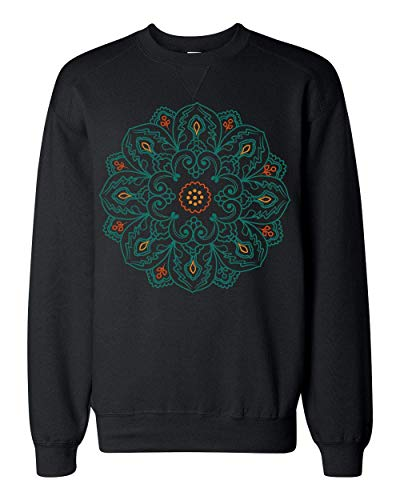Finest Prints Colorful Mandala Spiritual Symbol Sudadera Unisex Large