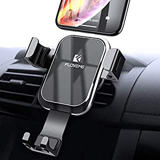 FLOVEME Gravity Linkage Car Phone Holder, 360 Degrees Rotation Mobile Phone Holders for Cars, Auto Lock Phone Holder for Car Vent Compatible for iPhone XR, XS, X, 8, 7, Samsung Note 9, 8, S9, S8 etc.
