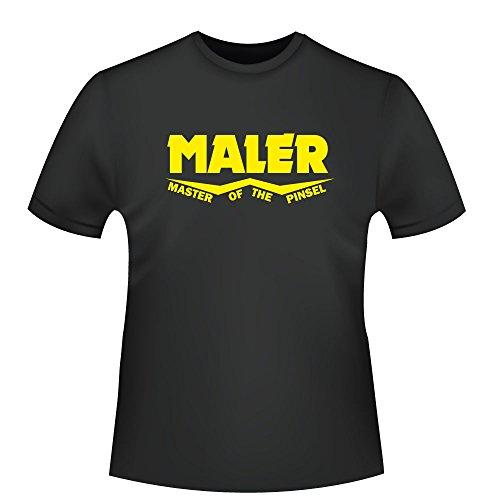 Maler - Master of the Pinsel, Herren T-Shirt - Fairtrade - ID104069 Schwarz