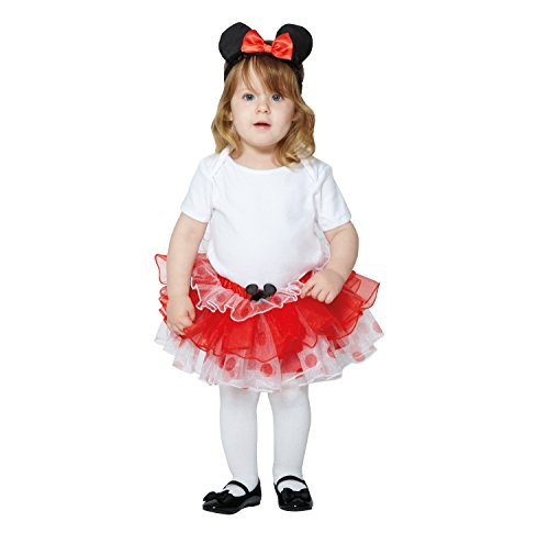Amscan x-DCMIN-TUR03-12 Micky Maus und Freunde Kinderkostümset Minnie, 62-80 cm