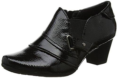 Lotus Women's Aldane Platform Heels, Black (Black Crinkle), 7 UK 40 EU
