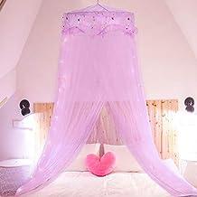 Jeteven Mosquitera Redonda Princesa Lujosa Elegante Decoracion de la Cama para Boda Niñas Regala Colgante con