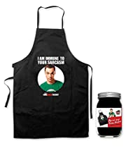 Tablier Big Bang Theory barbecue et cuisine Sheldon