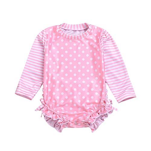 Allence Baby/Kleinkind Mädchen UPF 50+ Sonnenschutz Langarm Badeanzug mit Reißverschluss
