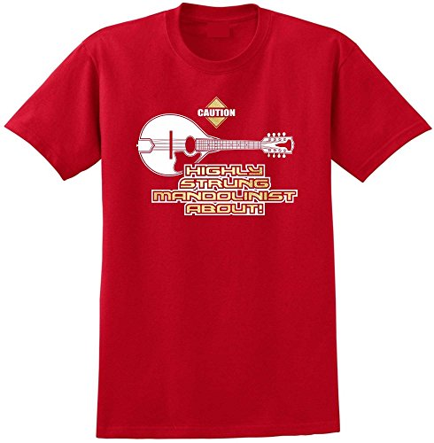 Mandolin Highly Strung - Red Rot T Shirt Größe 87cm 36in Small MusicaliTee