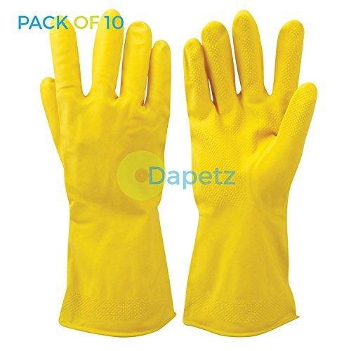 daptezr-10x-gelb-reinigung-latex-handschuhe-texturierte-griff-flock-gefuttert-auto-waschen-haushalt