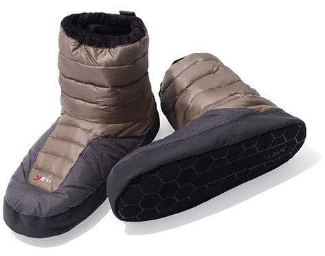 Yeti Sundown down Boot - mollig warme Daunenstiefel, Größe:XS, Farbe:braun