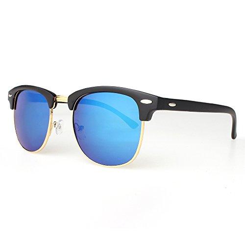 DISTRESSED Clubmaster Vintage Sonnenbrille 60er Hornbrille - viele Farben -50mm...