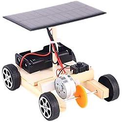 Yanten Mini Fai da Te Legno Solar Car Elettrica Kid Scienze dell'Educazione Assemblea Toy Set