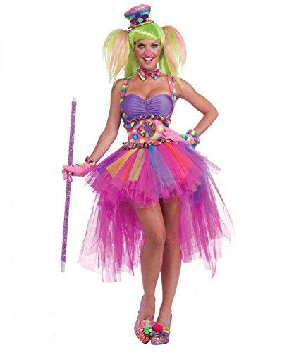 Sexy Kostüm Party Clown DELUXE Gr. S/M
