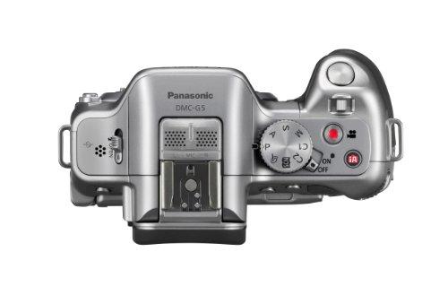 Panasonic DMC-G5K Fotocamera Mirorless con Mirino, Schermo LCD 3 Pollici, Full HD con Obiettivo 14-42 mm, Silver
