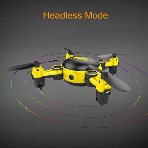 QUINTRA Mini wifi Kamera Drone RC Quadcopter 2.4GHz 4CH 6-Achsen Gyro 3D UFO FPV RC KY901 Gelb