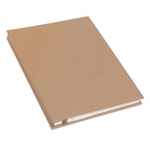 FOOHAO- Simple album photo d'affaires, bricolage fait à la main Scrapbook, couverture vierge auto-adhésif à l'intérieur de la page, 25 Pages (50 Surface) (Couleur : White card)
