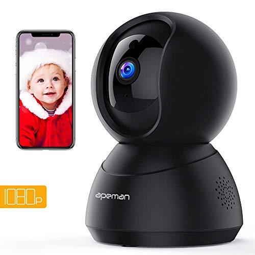 Apeman 1080P Telecamera di Sorveglianza Wifi, Videocamera IP Interno,Visione Notturna a Infrarossi,...