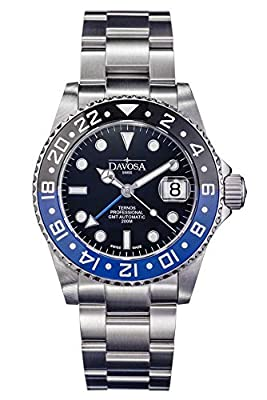 Davosa Ternos Professional TT GMT Second Time Zone Stainless Steel Wrist Watch