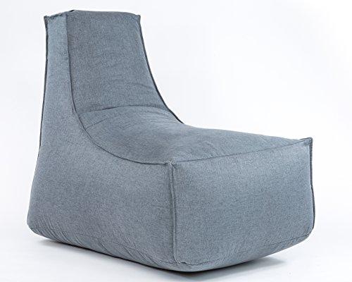 Xoft Living, Luxus Sitzsack-Stuhl für Erwachsene, Formstabil, 100% echter Polsters...