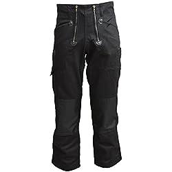 TMG® Pantalon de Travail pour Hommes | Plusieurs Tailles | 100% Coton 400gsm | Pantalon de Couvreur en Noir avec Renfort Genou en Cordura | Idéal pour Les Couvreurs et Les Menuisiers 52