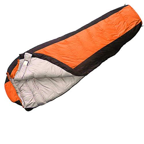 Sac de couchage en duvet - Portable léger pour maman, 95% de canard blanc. Down Up Fill, respirant, imperméable, résister aux basses températures de -15 à -0 ° C, idéal pour les voyages, la maison, le