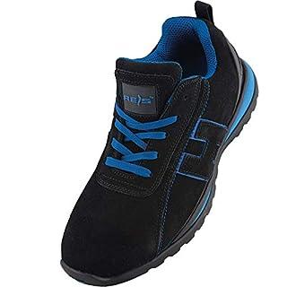 Arbeitsschuhe Sicherheitsschuhe CHILE Schuhe Gr.36-48 Schutzschuhe Stahlkappe (43), Schwarz Blau