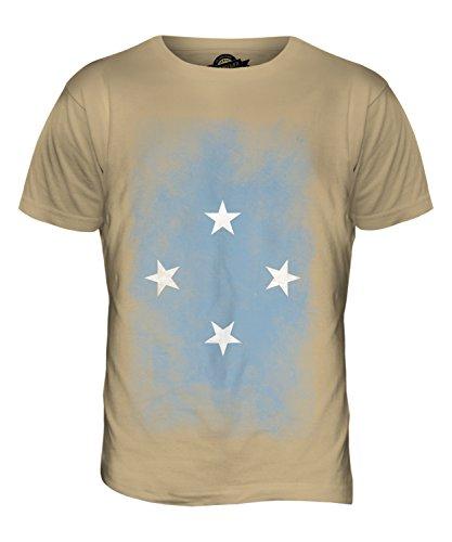 CandyMix Mikronesien Verblichen Flagge Herren T Shirt Sand