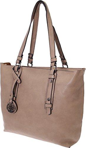 Shopper-Tasche # Bag in Bag # Blogger Schultertasche Damen Handtasche Schultertasche Umhängetasche Henkeltasche (Coffee) Coffee