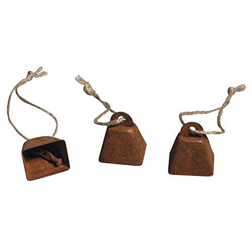 Rayher - 56850000 - Metall-Glocken zum Hängen, 3x2,5x2cm, SB-Btl 6Stück