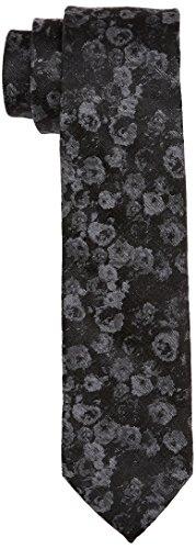 Calvin Klein Herren Slim 6.4 cm Krawatte, Schwarz (Black 001), One Size