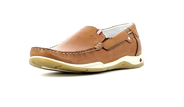 Grisport Aerata Hommes L/éger Chaussures Bateau en Cuir Gris