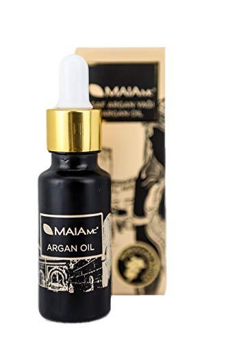 Bio Arganöl Serum 100% rein - Kaltgepresst von MAIA MC - Glasflasche mit Pipette - Für Gesicht und Haare - Anti-Aging - Gegen trockene Haut - Spendet Feuchtigkeit 20ml -