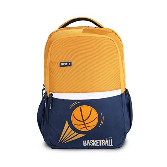 Priority Frolic 40 LTR Yellow & Blue Casual School | College Backpack Bag